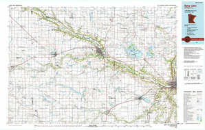 New Ulm topographical map