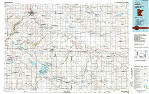 Tracy topographical map