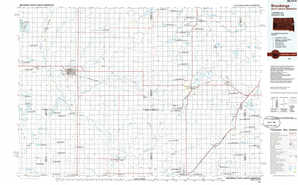 Brookings topographical map