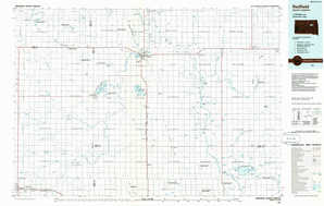 Redfield topographical map