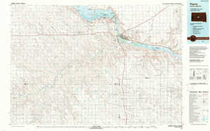 Pierre topographical map
