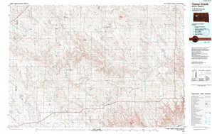 Camp Creek 1:250,000 scale USGS topographic map 44102e1