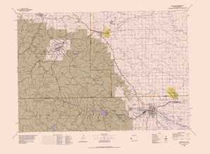 Rapid City topographical map