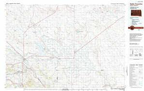 Belle Fourche 1:250,000 scale USGS topographic map 44103e1
