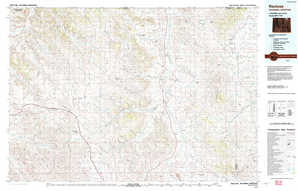 Recluse 1:250,000 scale USGS topographic map 44105e1