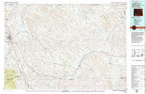 Sheridan topographical map