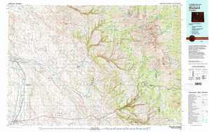 Worland topographical map