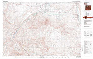 Basin topographical map