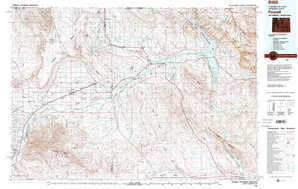 Powell topographical map