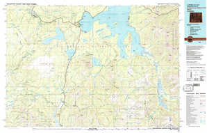 Yellowstone National Park South topographical map