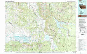 Hebgen Lake topographical map