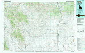 Dubois topographical map