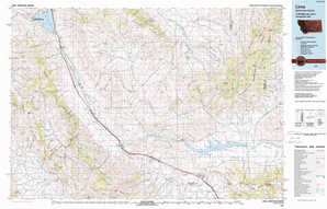 Lima topographical map