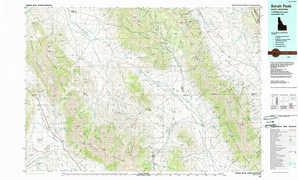 Borah Peak topographical map