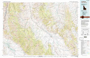 Leadore topographical map