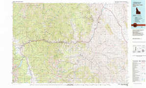 White Cloud Peaks topographical map