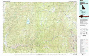 Deadwood River topographical map