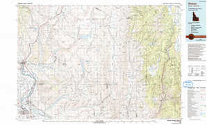 Weiser topographical map