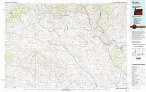 Brogan topographical map