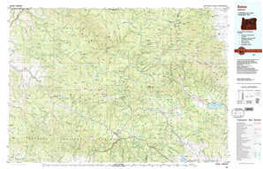 Bates topographical map