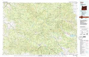 Bates 1:250,000 scale USGS topographic map 44118e1