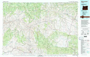 Monument topographical map