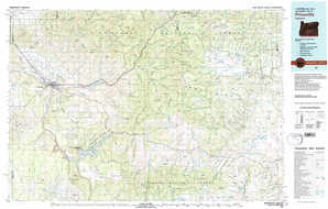 Prineville topographical map