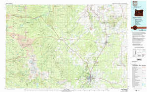 Bend topographical map