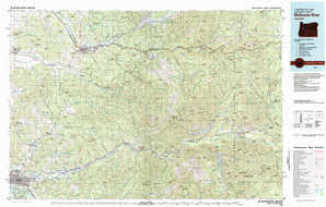 Mc Kenzie River topographical map
