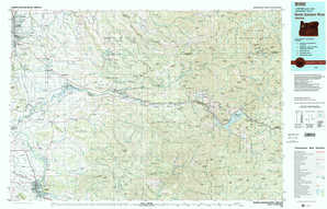 North Santiam River topographical map