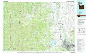 Eugene topographical map