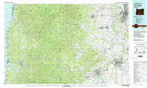 Corvallis topographical map