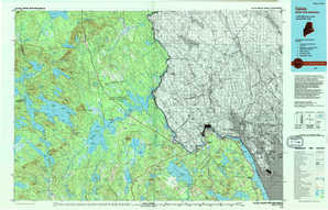 Calais topographical map