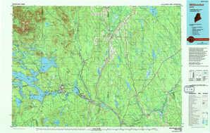 Millinocket topographical map