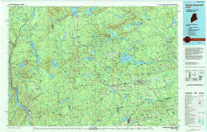 Dover-Foxcroft topographical map
