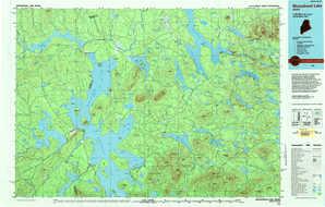 Moosehead Lake topographical map