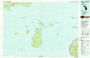Beaver Island topographical map