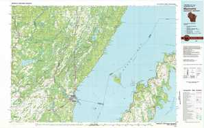Marinette topographical map