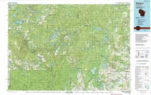 Wabeno 1:250,000 scale USGS topographic map 45088a1