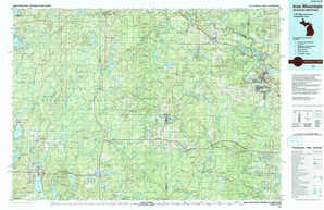 Iron Mountain topographical map