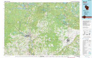 Merrill topographical map