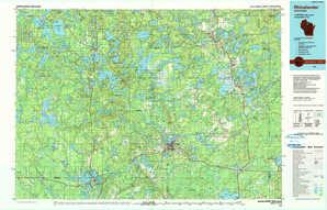 Rhinelander 1:250,000 scale USGS topographic map 45089e1