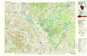 Bloomer topographical map