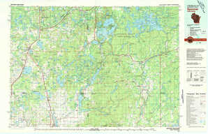 Spooner topographical map