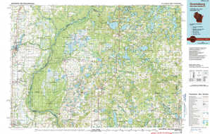 Grantsburg topographical map