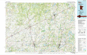 Mora topographical map