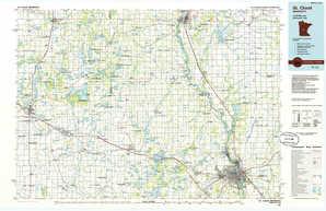 Saint Cloud topographical map