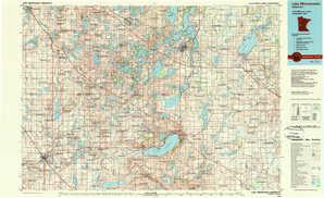 Lake Minnewaska topographical map