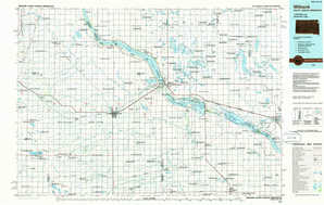 Milbank 1:250,000 scale USGS topographic map 45096a1