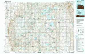 Webster topographical map
